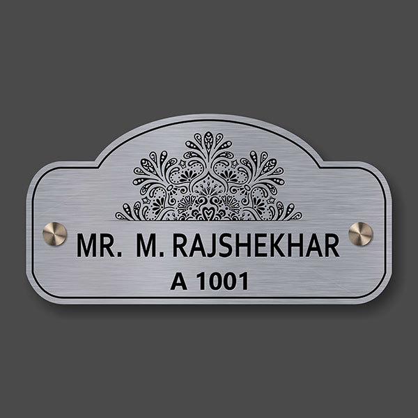 Stainless Steel Name Plate Design